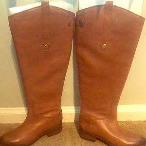 Sam Edelman  Women Riding Leather Boots Size 5 NEW